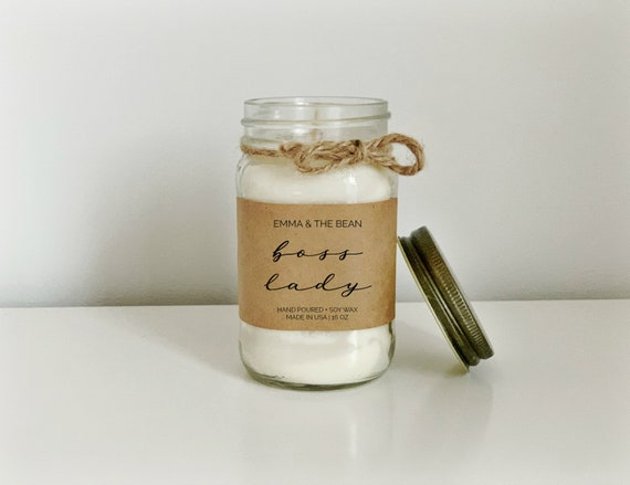Boss Lady Candle  Girl Boss Candle  Handmade Soy Candles