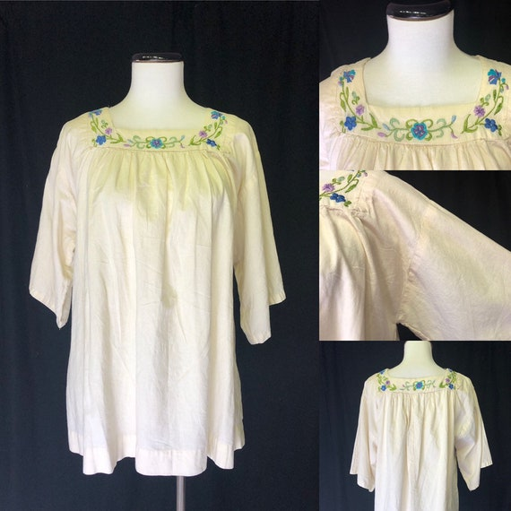 1970s Peasant Blouse in Size 20 2X Plus