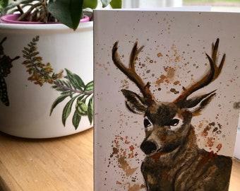 Handmade Deer Card