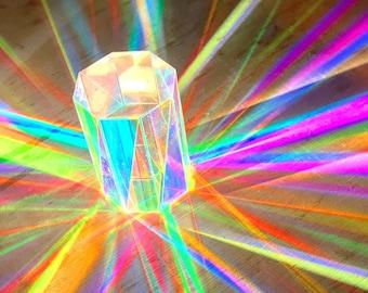 Niji Octagonal Prism - dichroic - H70mmW50mmD50mm