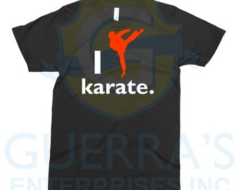1c55de50f38767 T-Shirt I Love Like Karate Tee T Shirt Martial Artist Cool Funny Gift  Athletes