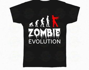 "Zombie T-Shirt Halloween ""Zombie evolution"""