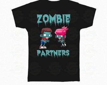 "Zombie T-Shirt Halloween ""Zombie partners"""