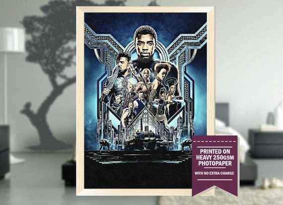 Black Panther Gifts Black Panther Poster Black Panther Etsy