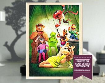 The Muppet Movie, fanart, muppet movie print, muppet movie poster, muppet movie, muppet movie art, vintage movies, cool art, 1979