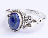 Lapis Lazuli Ring , Silver Ring, Lapis Lazuli Stone Ring, 925 Sterling Silver, Lapis Lazuli Jewellery, Bohemian Ring, Handmade Ring