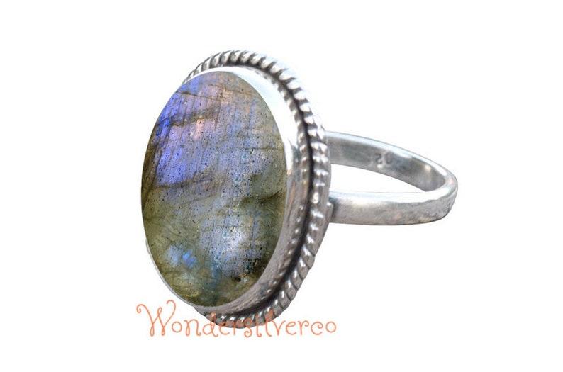 Sterling silver labradorite ring Labradorite ring women Labradorite ring sterling silver Labradorite spinner ring Ring with labradorite