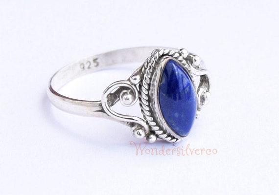 Lapis Lazili Sterling Silver Ring