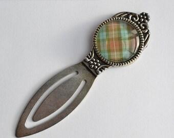 Scottish Tartan (Fraser colors) Silver Bookmark - Claire Fraser Sassenach Book Lover - Outlander inspired