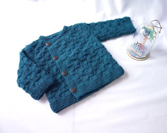 Jacket knitted baby boy