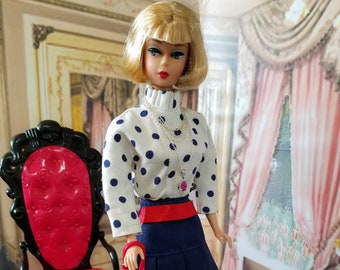 Vintage Barbie MOD-Dot Ensemble for Barbie, Silkstone and Friends