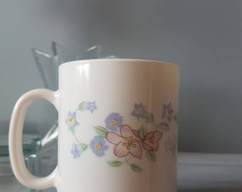 Pair of Arcopal Floral Coffee Cups made in France