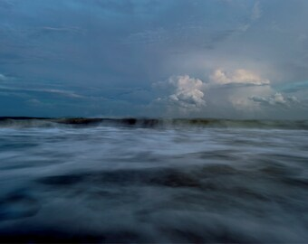 Waves at Sunset, Georgia, Waves, Sunset, Beach Sunset, Fine Art Photography, Clouds