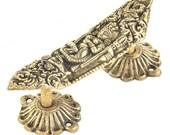 Handmade Kali Maa Idol Bronze Door Drawer Pulls Artistic Vintage Antique Dresser Cabinet Handles Handcrafted