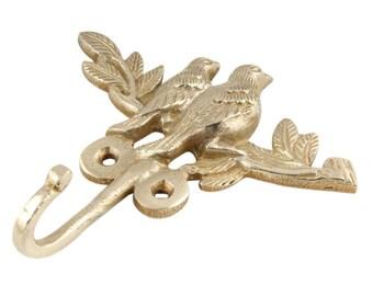 Handmade Brass Artistic Vintage Antique Bird Wall Hooks Hangers Coat Hooks Hangers Keys Hangers Hooks Clothes Hooks Hangers