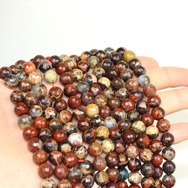 """Beautiful 6//8//10mm Garnet Gems Faceted Round Loose Beads 15/"""" Strand"""