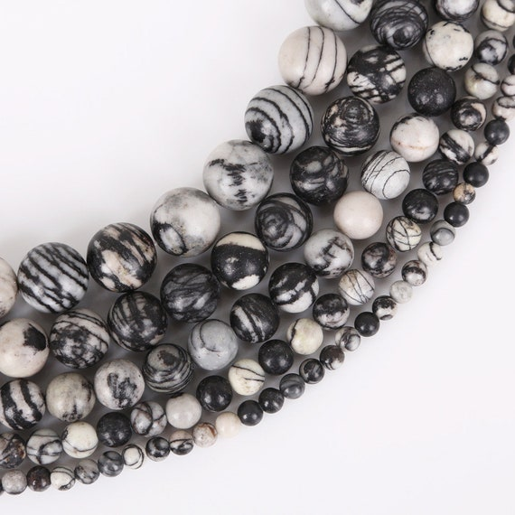"wholesale 10mm//8mm//6mm natural black gemstone beads 15/"""
