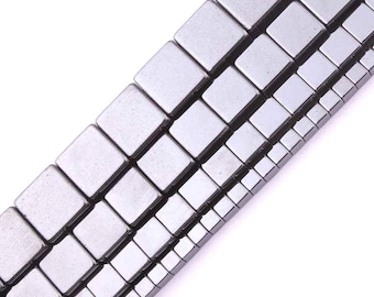 Magnetic Hematite Beads, Cube Beads, Natural Stone Beads, Loose Strand Beads For Jewelry Making 3mm 4mm 6mm 8mm 15''
