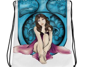 Amethyst Nouveau Drawstring bag