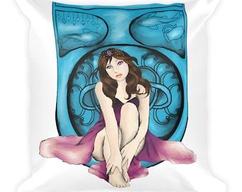 Amethyst Nouveau Square Pillow