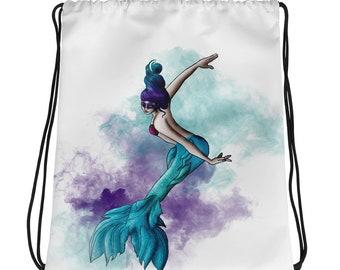 Mermaid 2 Drawstring bag