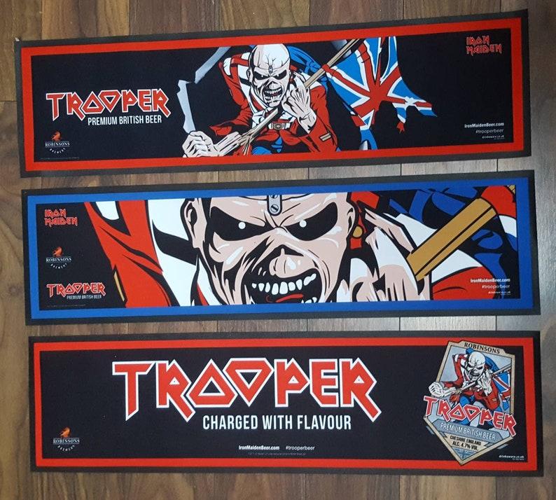 e3317812a1907b Iron Maiden Original Official Trooper Beer Bar Runner. Brand