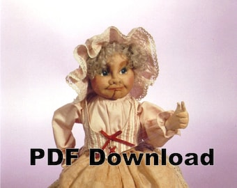Cloth Doll Pattern PDF on CD Mimi/'s Bertie 17th Century Barmaid