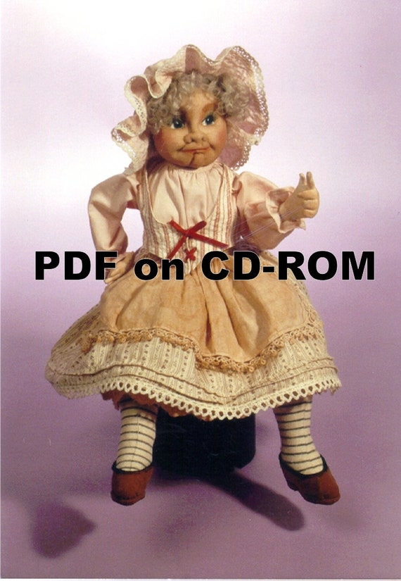 Cloth Doll Pattern PDF on CD Mimi/'s Bertie 17th Century Barmaid