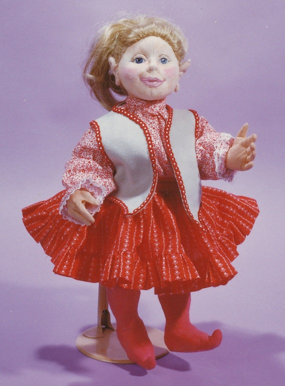 """*NEW* CLOTH ART DOLL PATTERN /""""OLD FRIENDS KEEP YOU SANE!/"""" PAPER"""