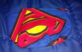 Superman Print Pattern Make UpCoin Purse