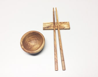 Sushi chopsticks 27 cm, set selectable, chopsticks, handmade from olive wood