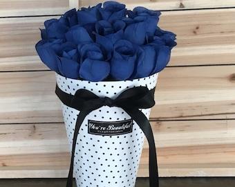 Silk Floral Arrangement, Blue Flowers, Blue Roses, Faux Flowers, Floral Arrangement, Flower Arrangement, Artificial Flowers, Centerpiece