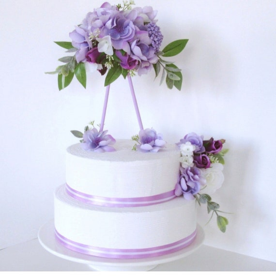 Purple Cake Decoration Topper Birthday Wedding