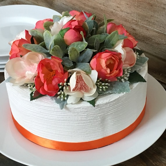 Large Luxury Silk Floral Cake Topper Artificial Flowers
