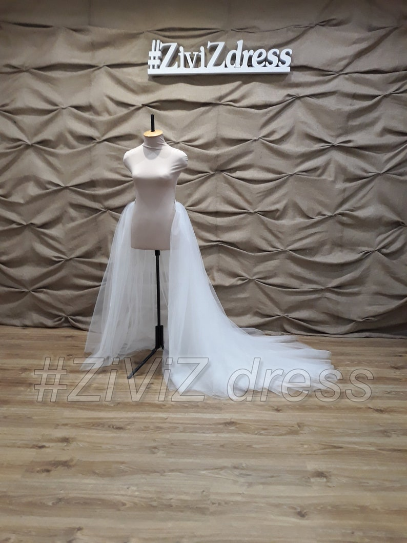 d981436c25 Wedding train without belt in front 2 or 4 layers tulle120 or   Etsy
