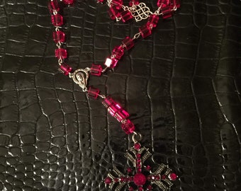 Beautiful red rosary