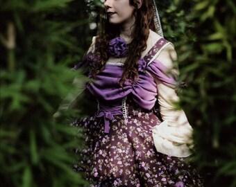 Lolita Fashion, JSK, Lolita Jumperskirt, Classic lolita dress, Sweet lolita dress, lolita dress, Floral dress, lolita clothing, Kawaii.