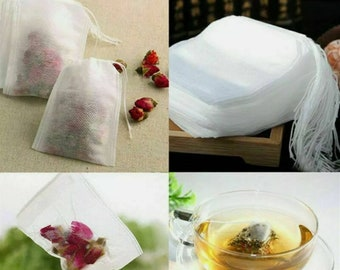 10 Cotton Muslin Drawstring Reusable Bags Bath Soap Bath Herbs Tea Spice Potpourri