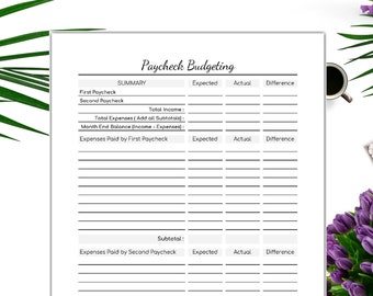 picture relating to Bi Weekly Paycheck Budget Printable called Funds by means of paycheck Etsy