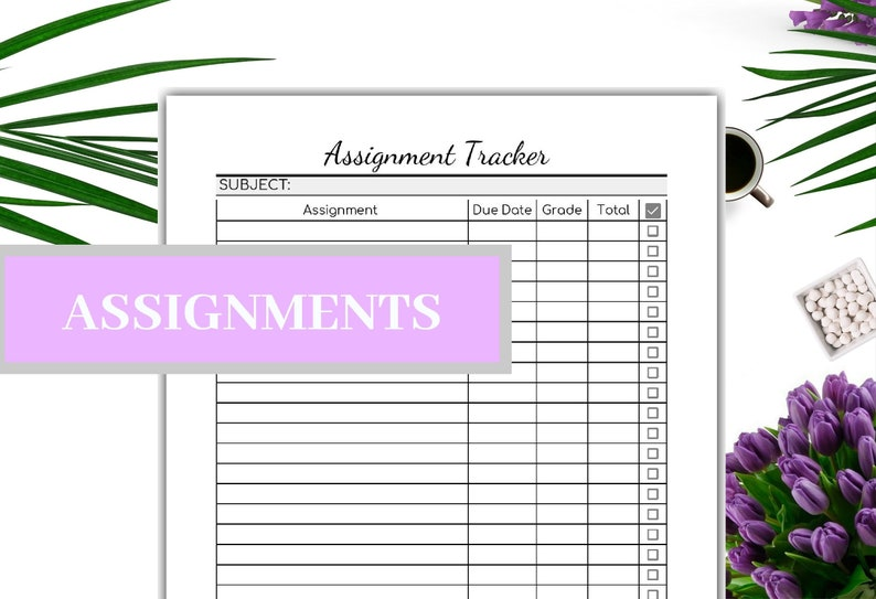 photo regarding Grade Tracker Printable referred to as Assignment Tracker Printable Editable - Quality Tracker-PDF - Research Tracker- Undertaking Tracker-Quick Down load