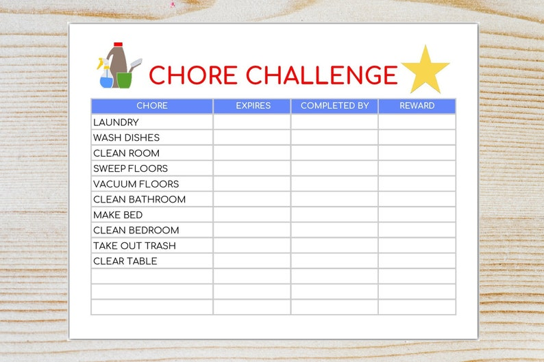 image about Chores List Printable named Chore Problem- Editable Chore Listing- Chore Chart-Children Chores Printable -Immediate Obtain