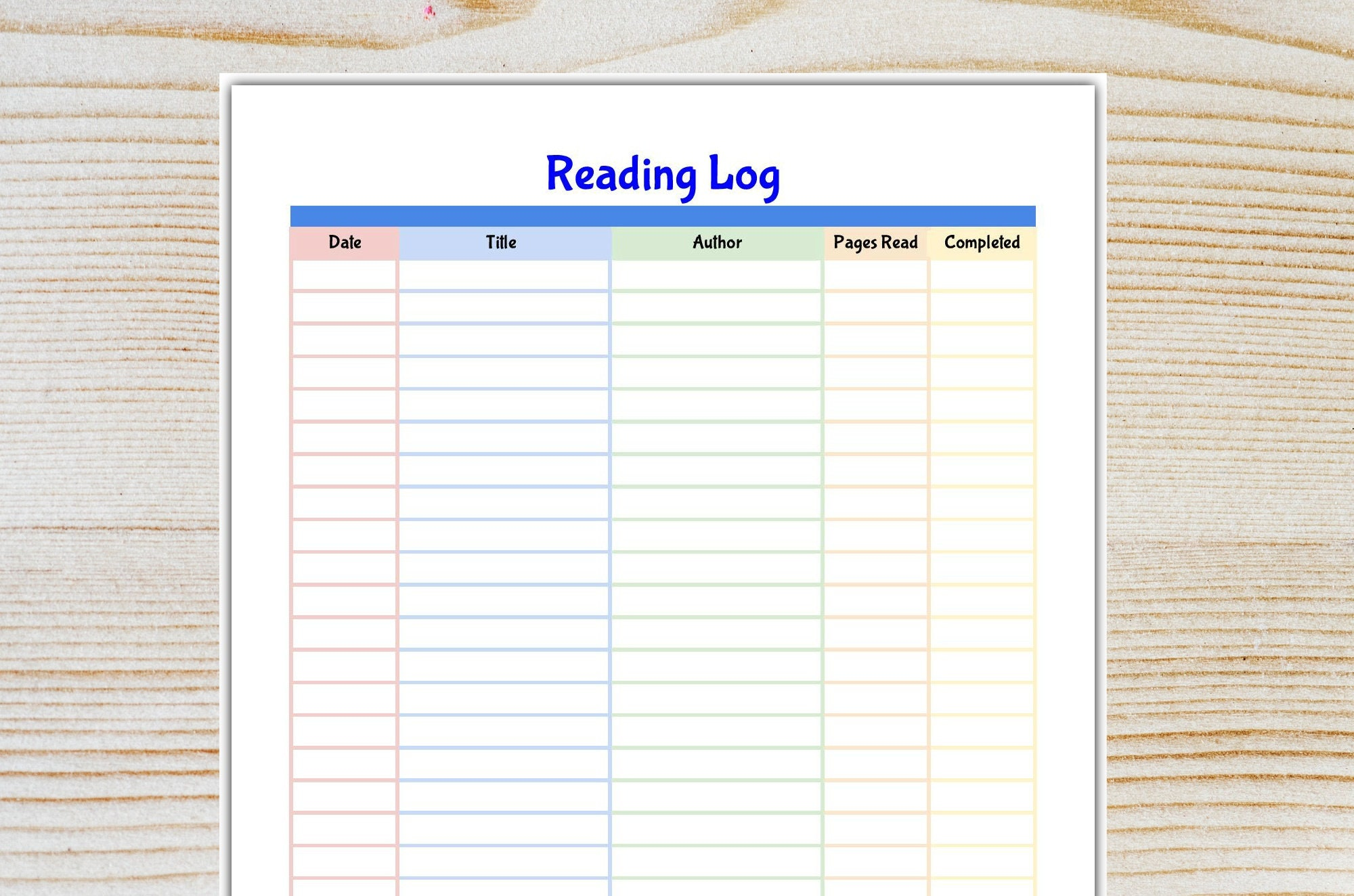 photo relating to Book Log Printable called Looking through Log Printable- Reserve Log- Examining Listing- Children Looking at Objective- PDF -Fast Down load