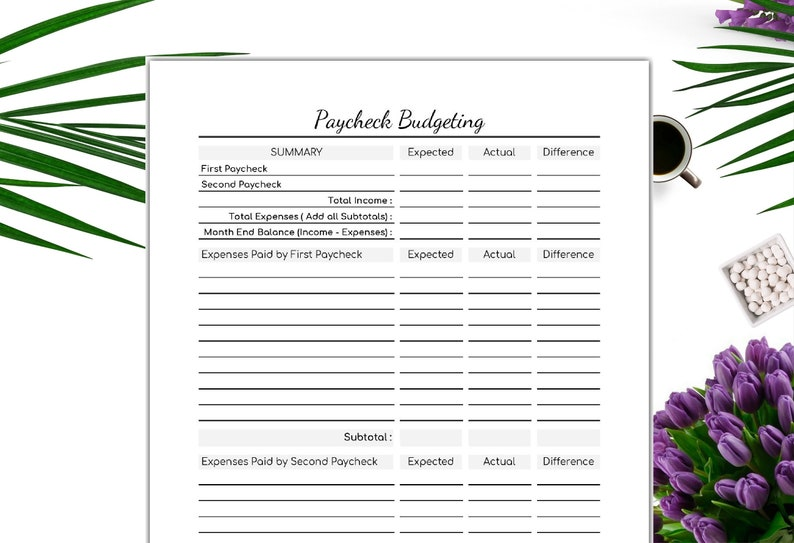 graphic about Paycheck Budget Printable named Finances Printable-Editable Paycheck Budgeting- Individual Price range- Printable Spending plan- Immediate Obtain