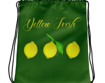 Yellow Fresh Drawstring bag