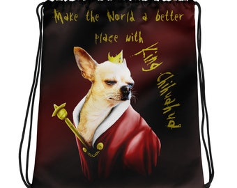 King Chihuahua Drawstring bag