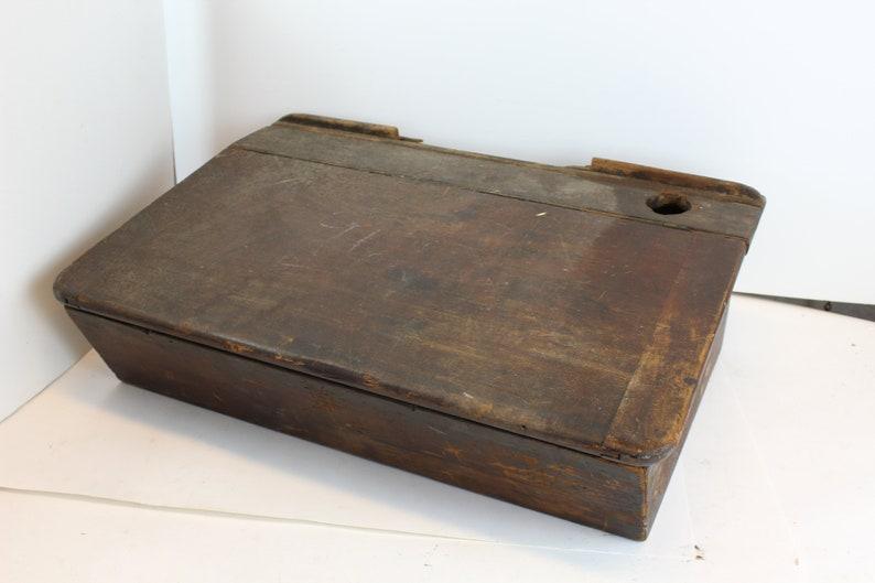 wood lap desk w carved graffiti vintage wooden case shoe etsy rh etsy com wooden lap desk with storage wooden lap desk with legs