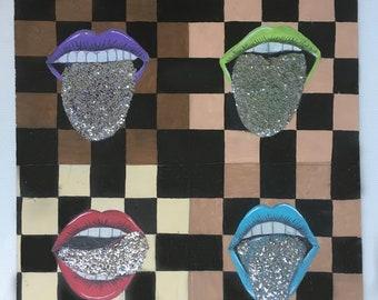 Glitter Lips Painting