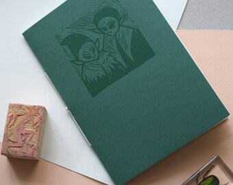 The Green Children of Woolpit - LTD Edition Linocut & Letterpress Printed Artist's Book/ Zine