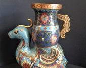 Antique Cloisonne Brass F...