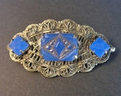 Antique Art Deco Blue Vau...